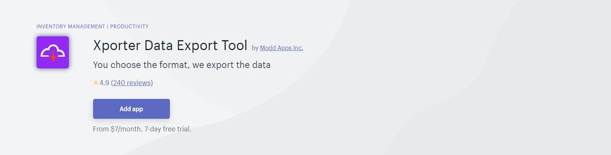 Xporter - Data export tool