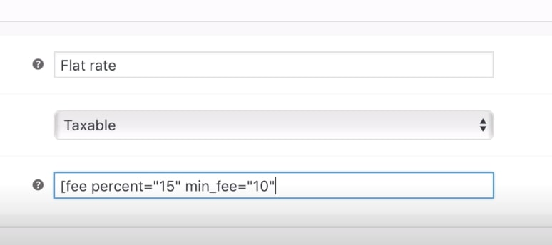 Step 4: Edit the flat rate settings and apply