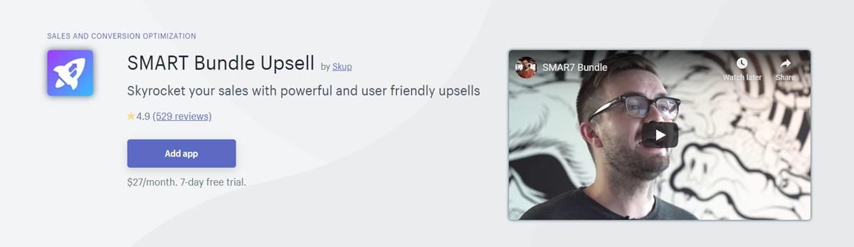 SMART Bundle Upsell - Smart upsells