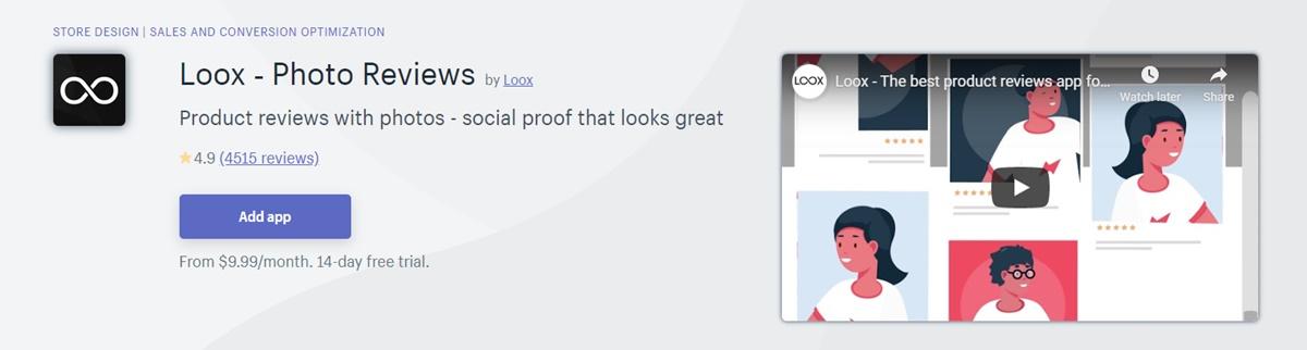 Loox - Photo reviews