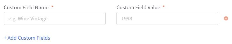 Deciding custom field name and value
