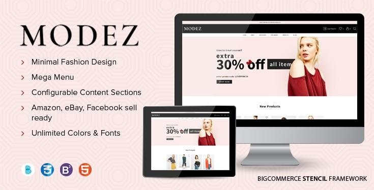 Modez BigCommerce Theme preview Source: Papathemes