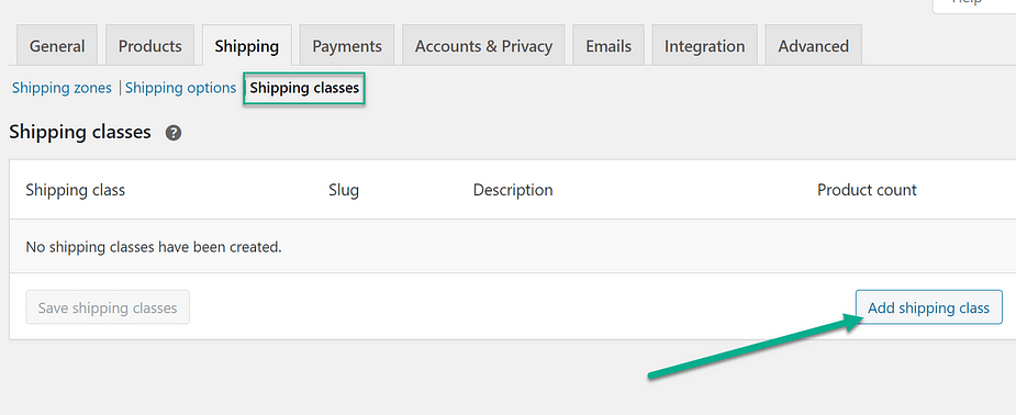 Set up shipping rates based on shipping classes