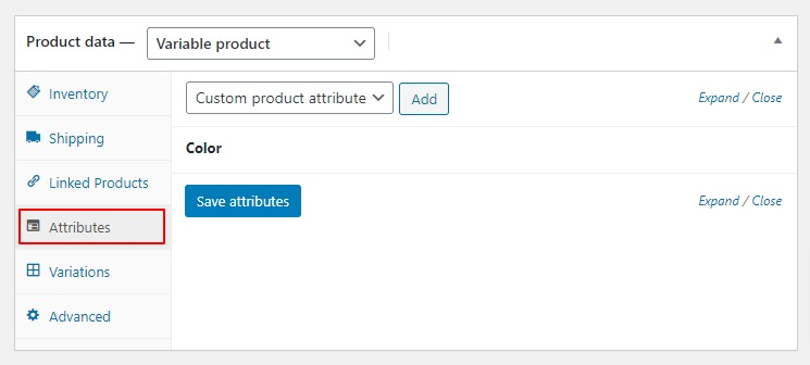 Step 4: Add product attributes