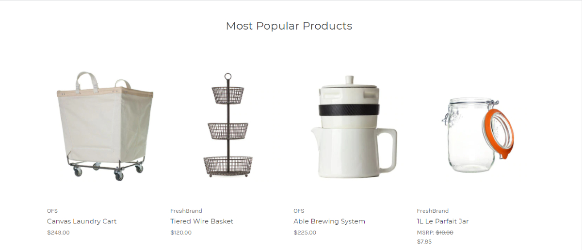 Most Popular Products