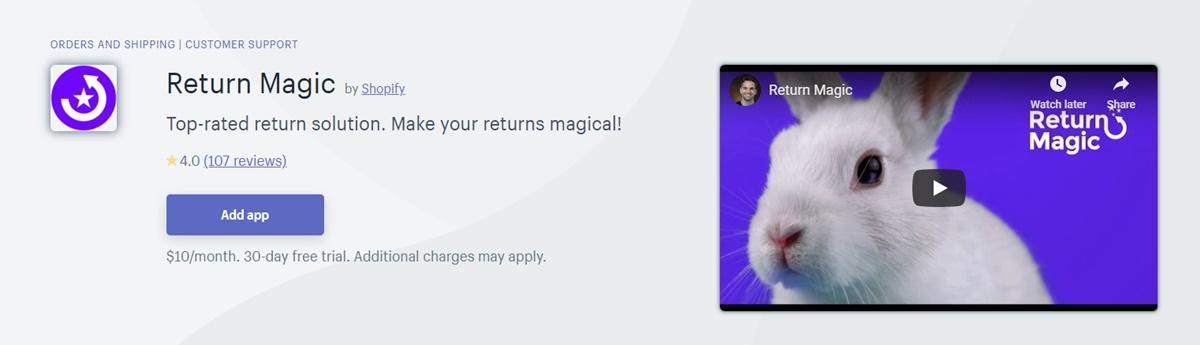Return Magic - Product return solution