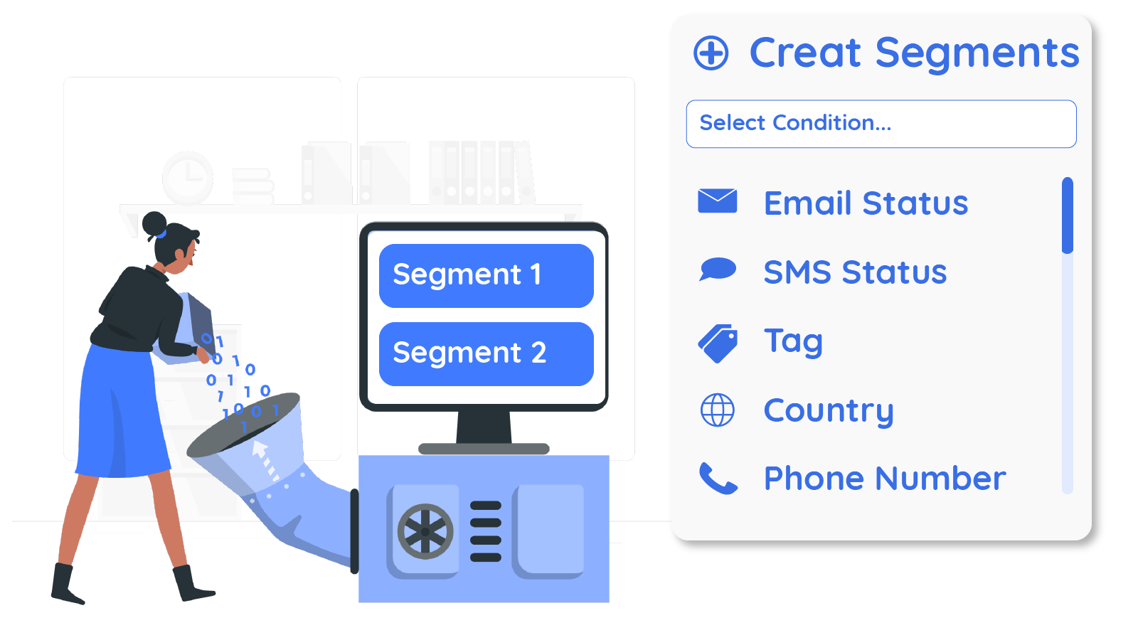 Segments on contacts attributes