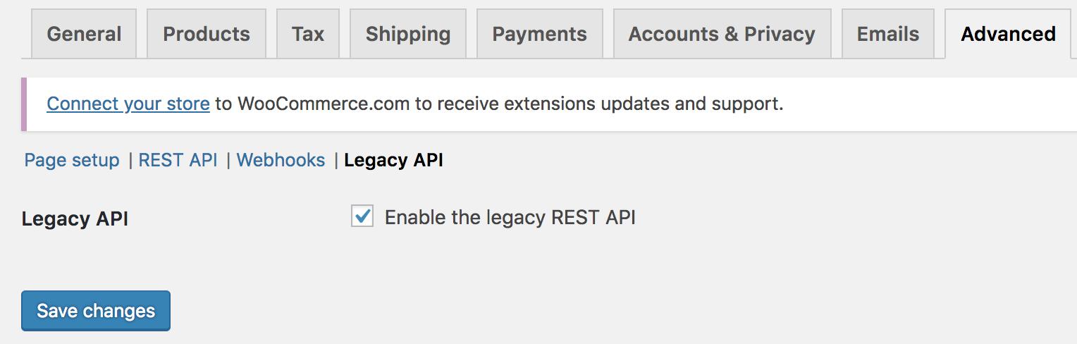 Enable legacy REST API