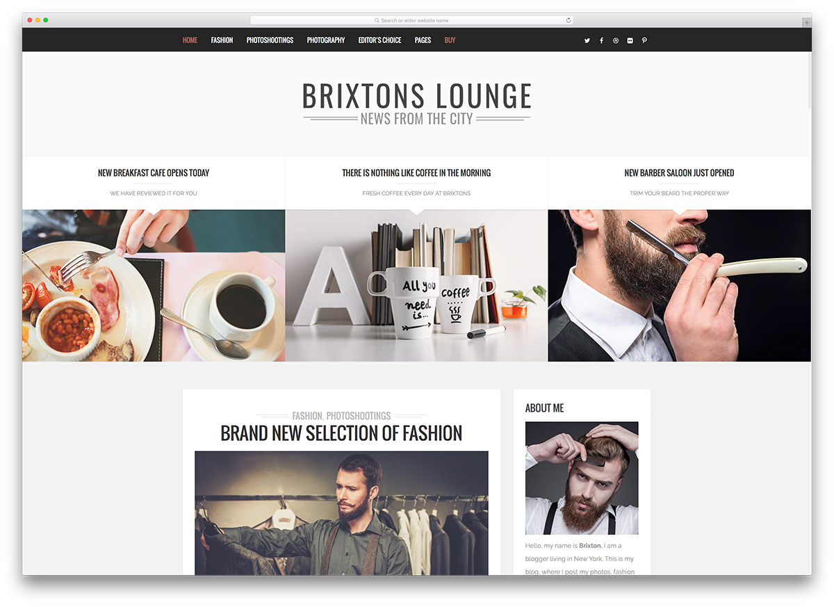 Brixton BigCommerce Theme preview Source: Colorlib