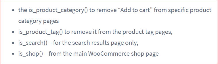 Disable add to cart button from your archive pages