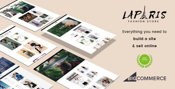 LaParis BigCommerce Theme preview Source: QeRetail