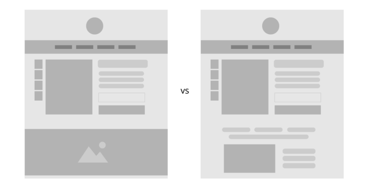 Product detail page A/B test