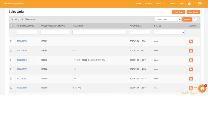 Display products in a BigCommerce wholesale order form