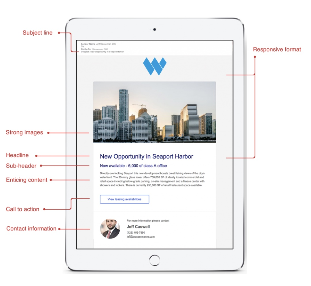 Create a well-structured email