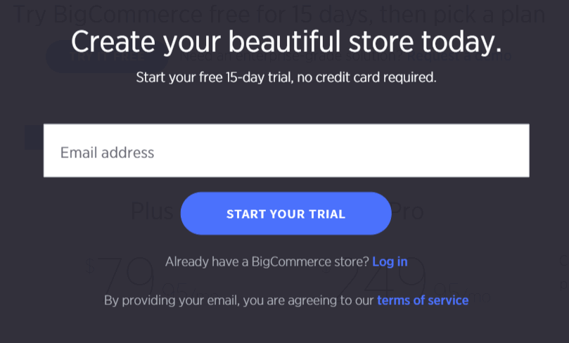 Starting free-trial store