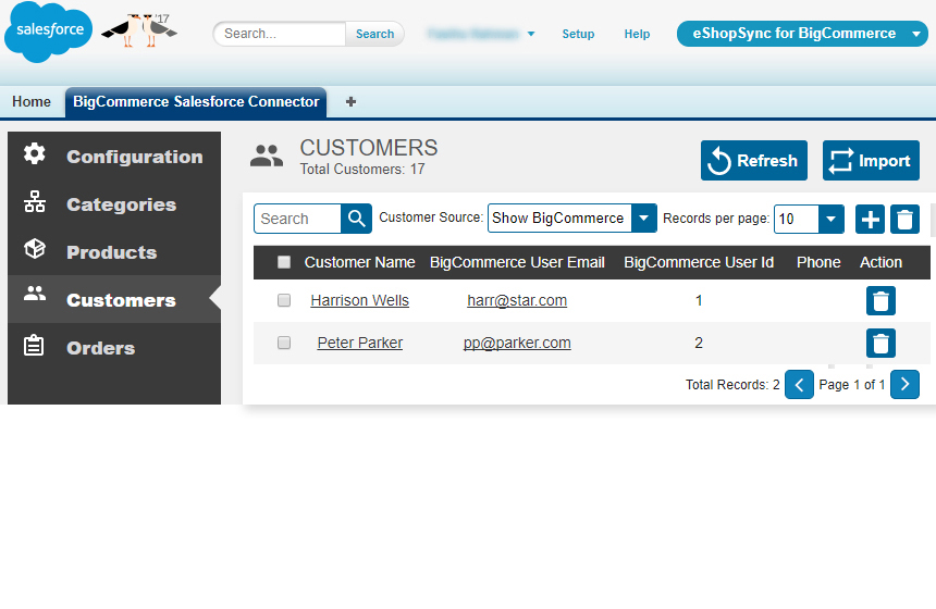 Sync your details on Salesforce