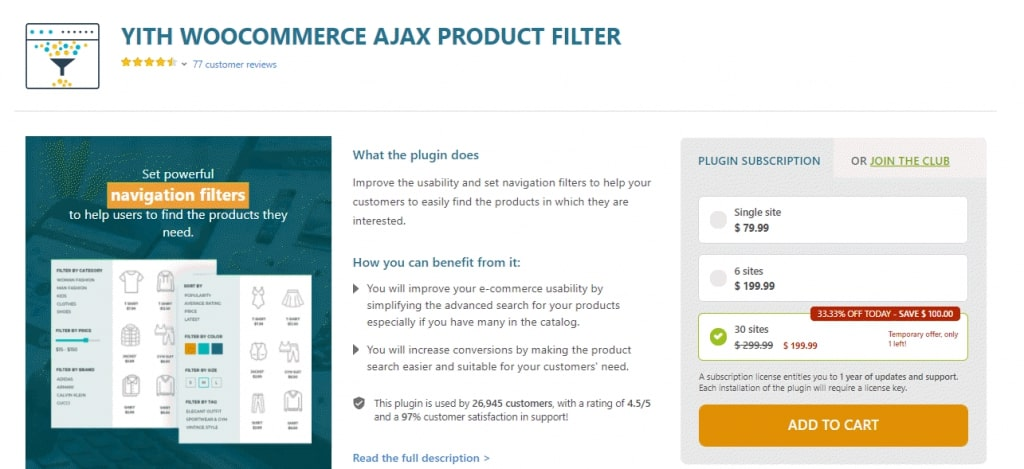YITH WooCommerce Product Filter