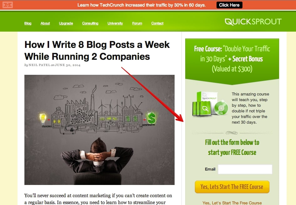 Include CTAs in every blog post