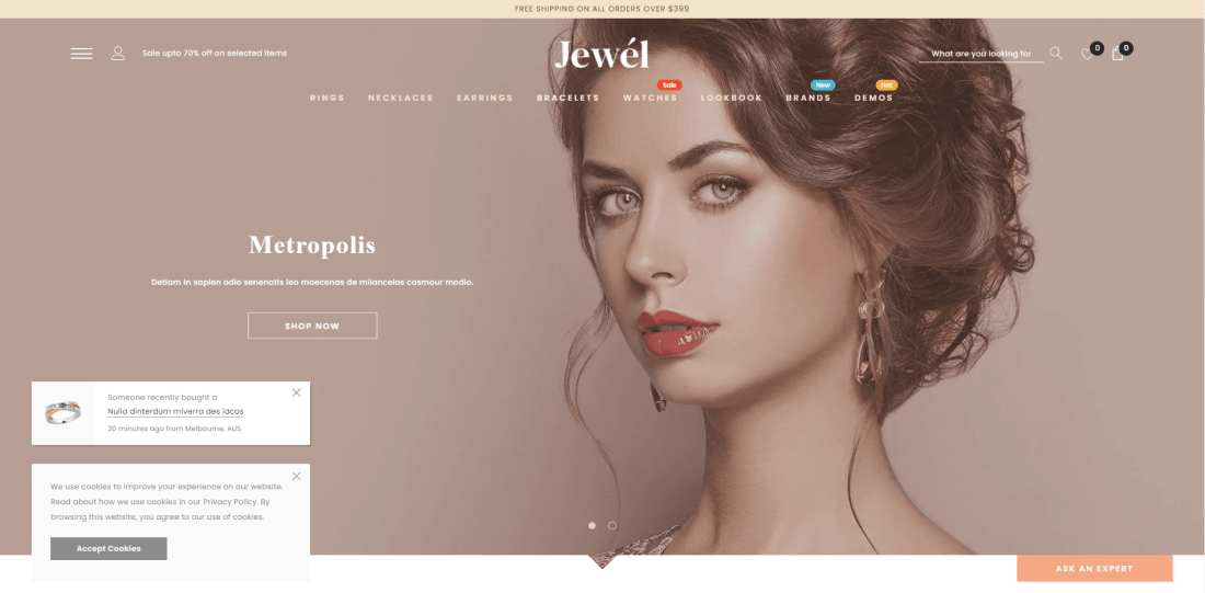 Shopify Jewellery Themes