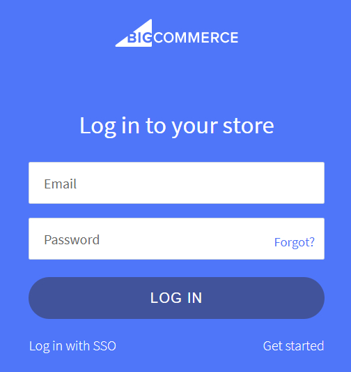 Logging into the BigCommerce store you would like to connect to ShipperHQ