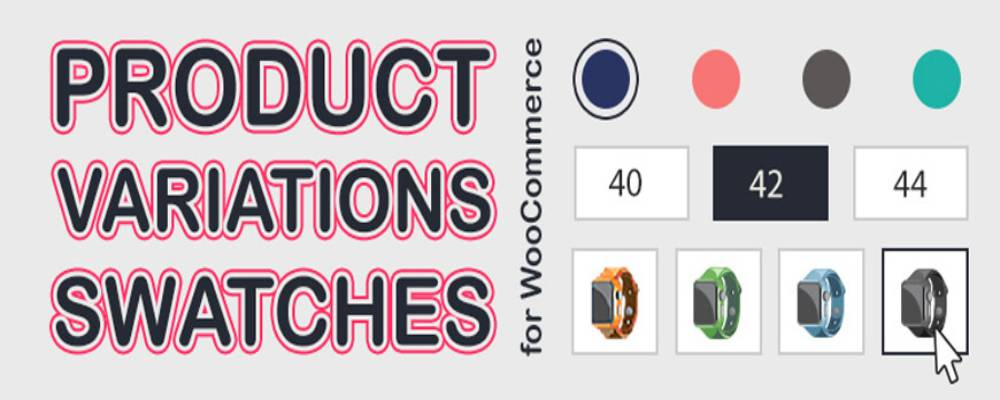 Product Variation Swatches sample display