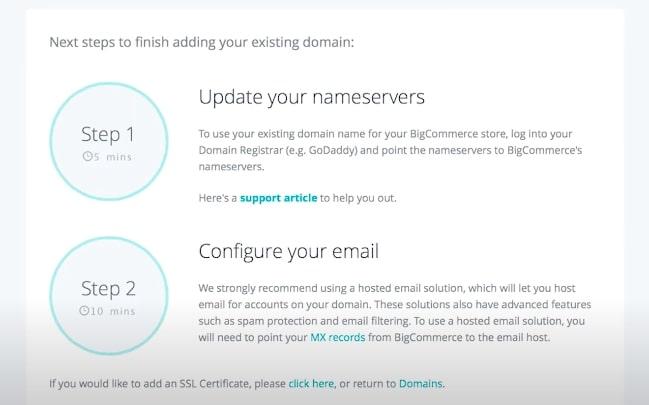 Adding domain