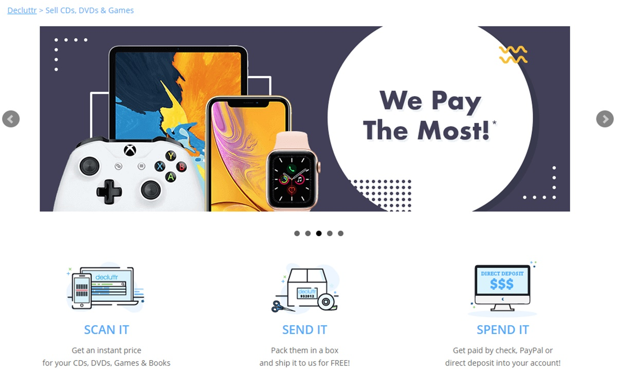 Decluttr's selling video games process