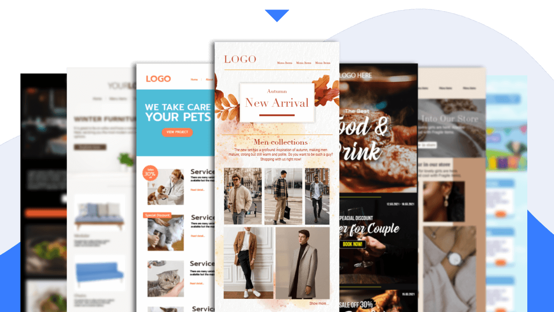 Pre-built stunning email templates
