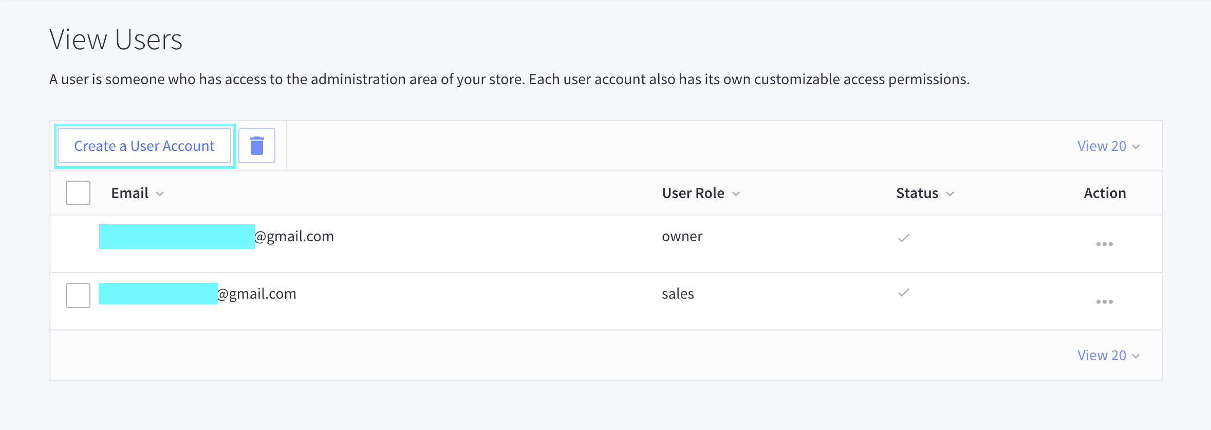 Create a User Account