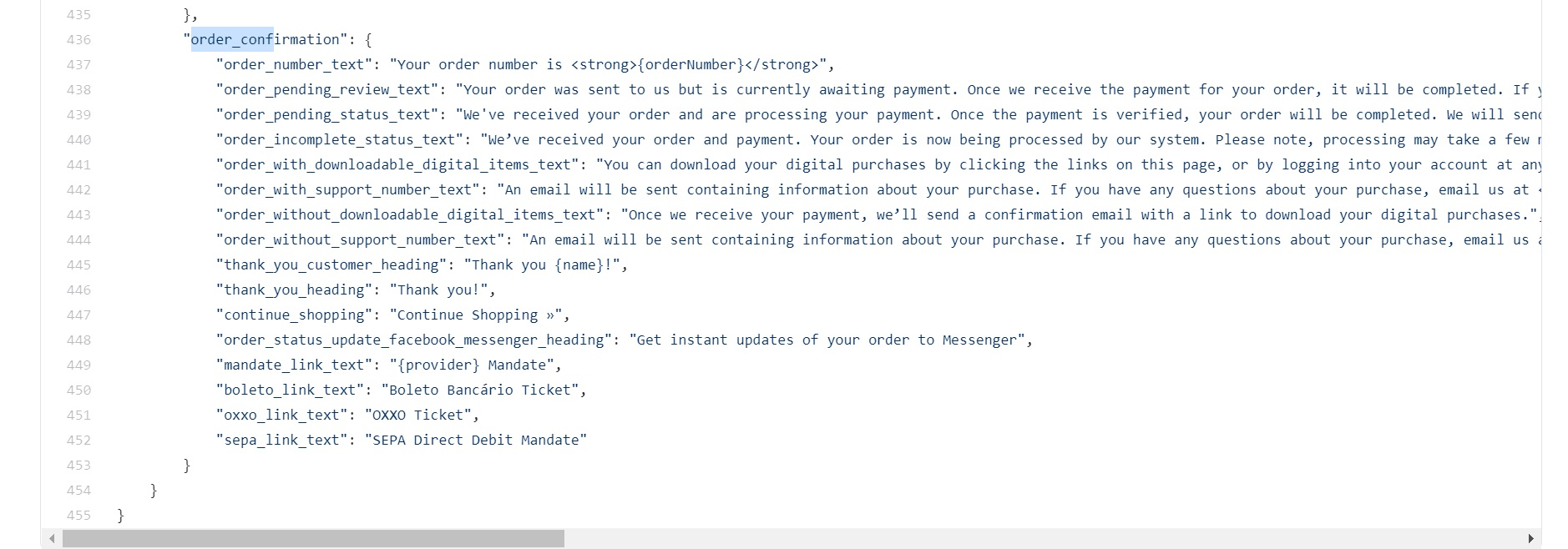 BigCommerce Thank You page source code