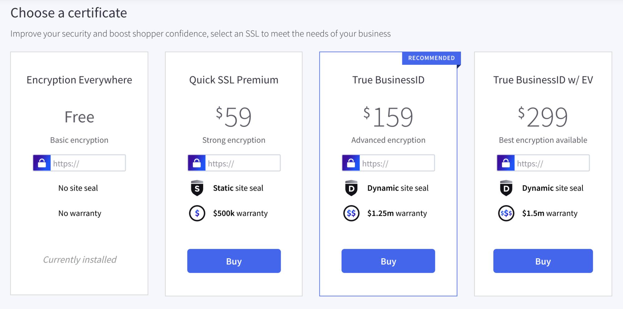 4 SSL certificate options