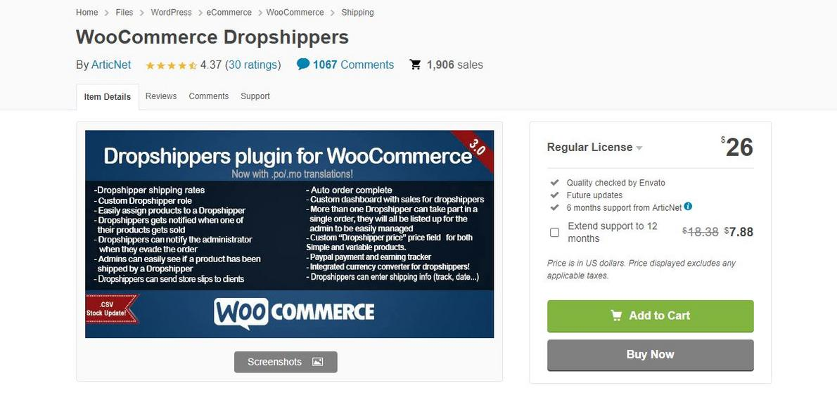 example of WooCommerce Dropshippers