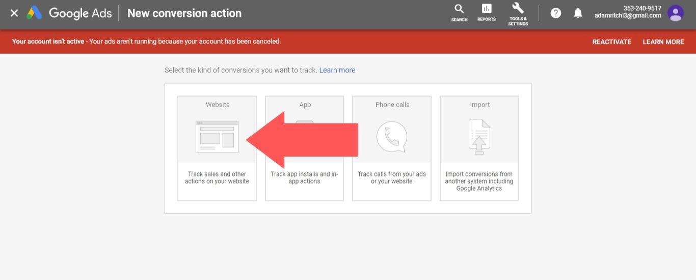 Select Website