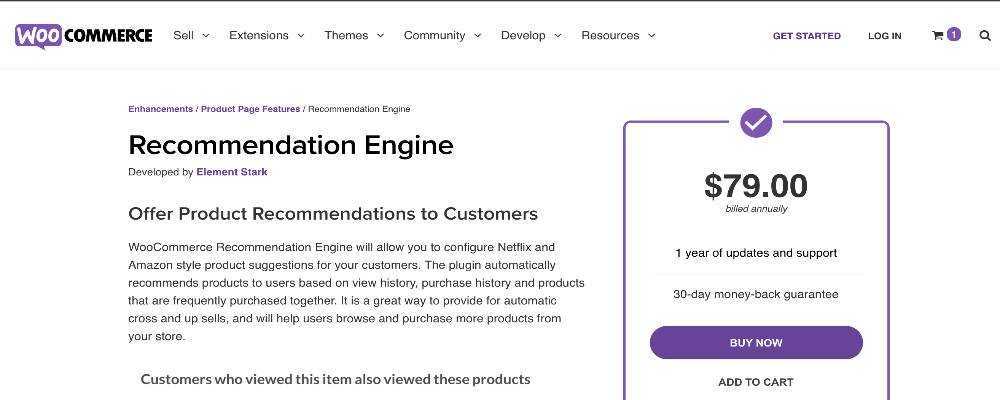 Recommendation Engine for WooCommerce