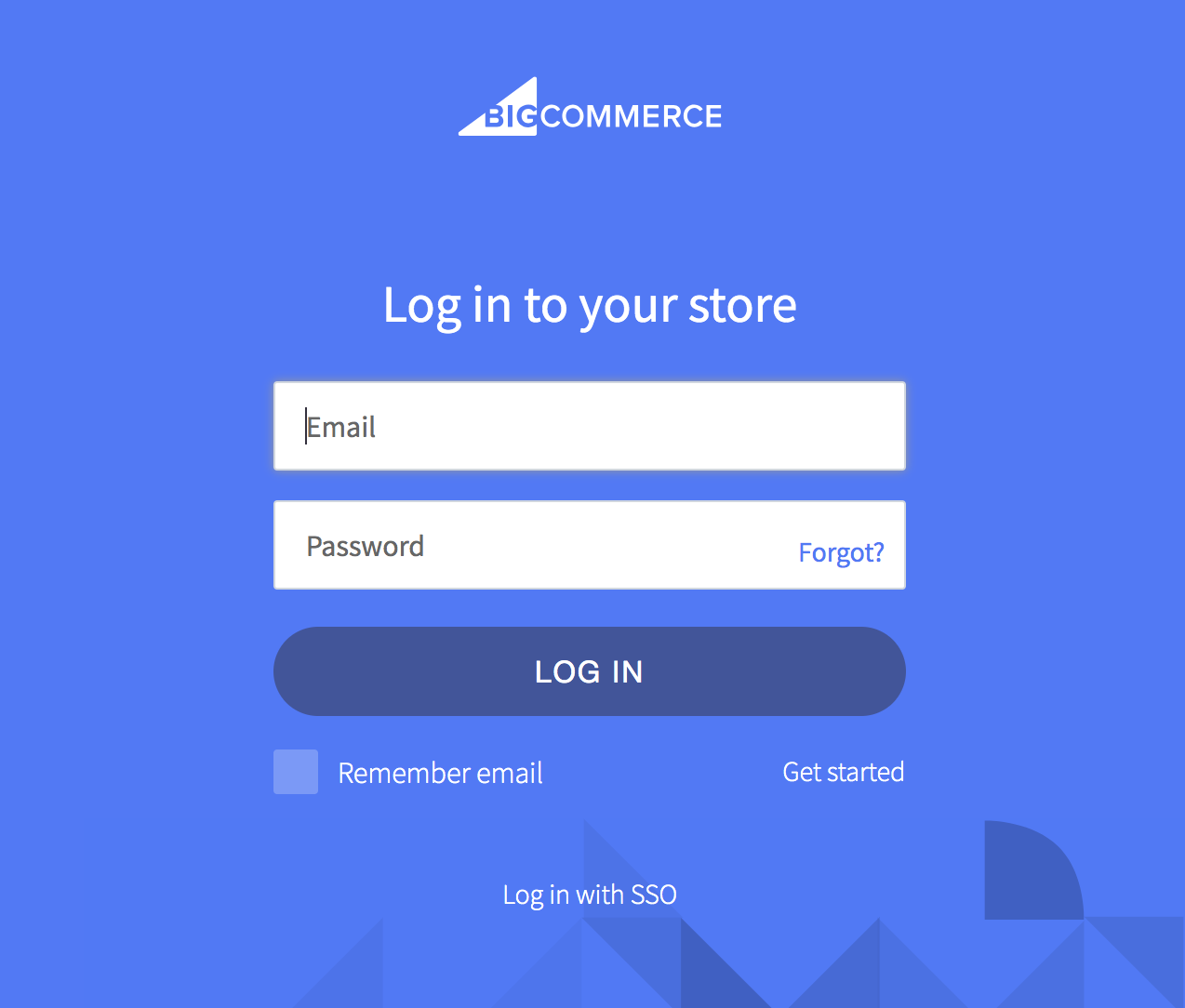 Log into the BigCommerce Store
