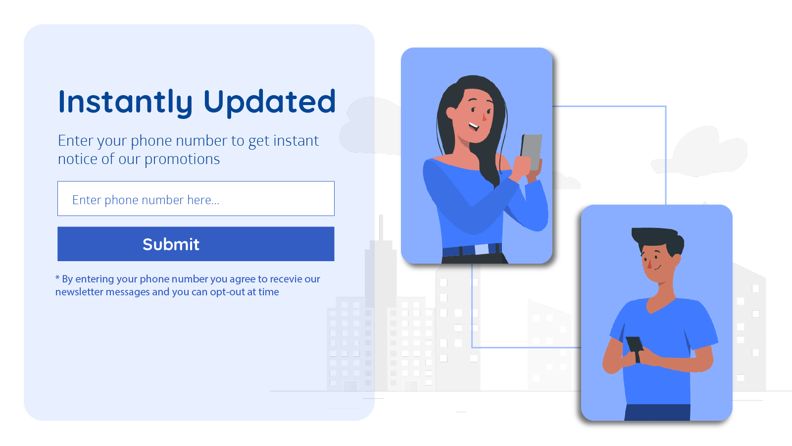 Collect SMS numbers easily via sign-up forms