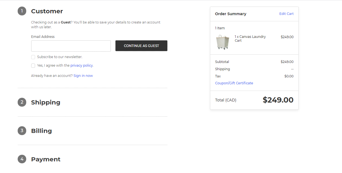 One-page Checkout in BigCommerce