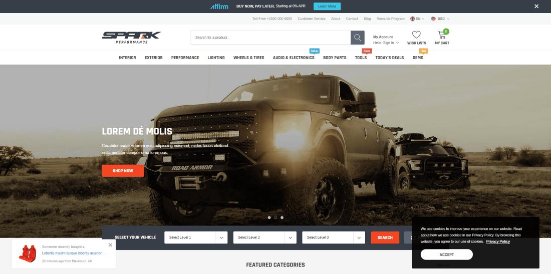 Shopify Car & Auto Themes