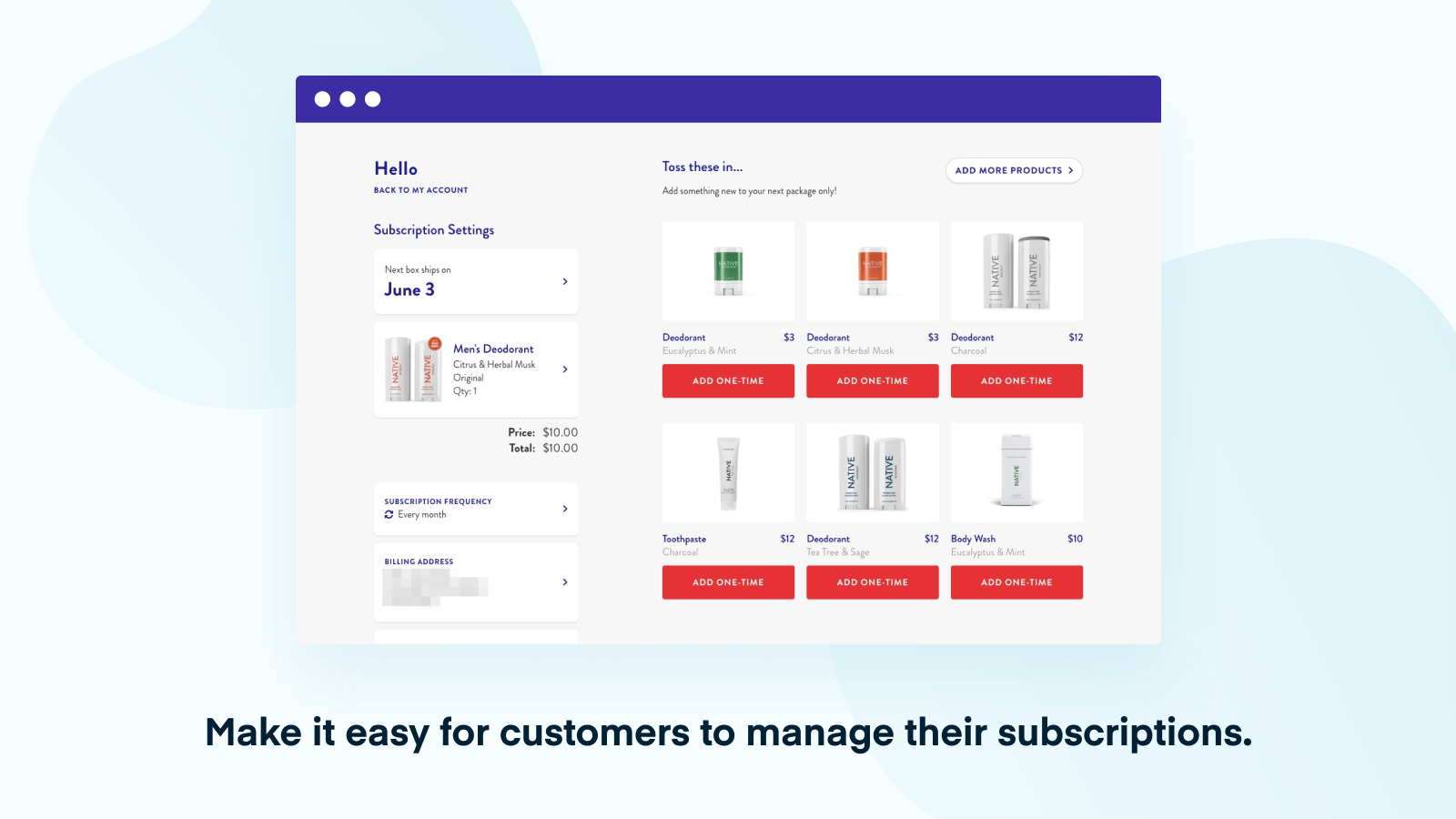 Easily Manage Subscriptions with ReCharge