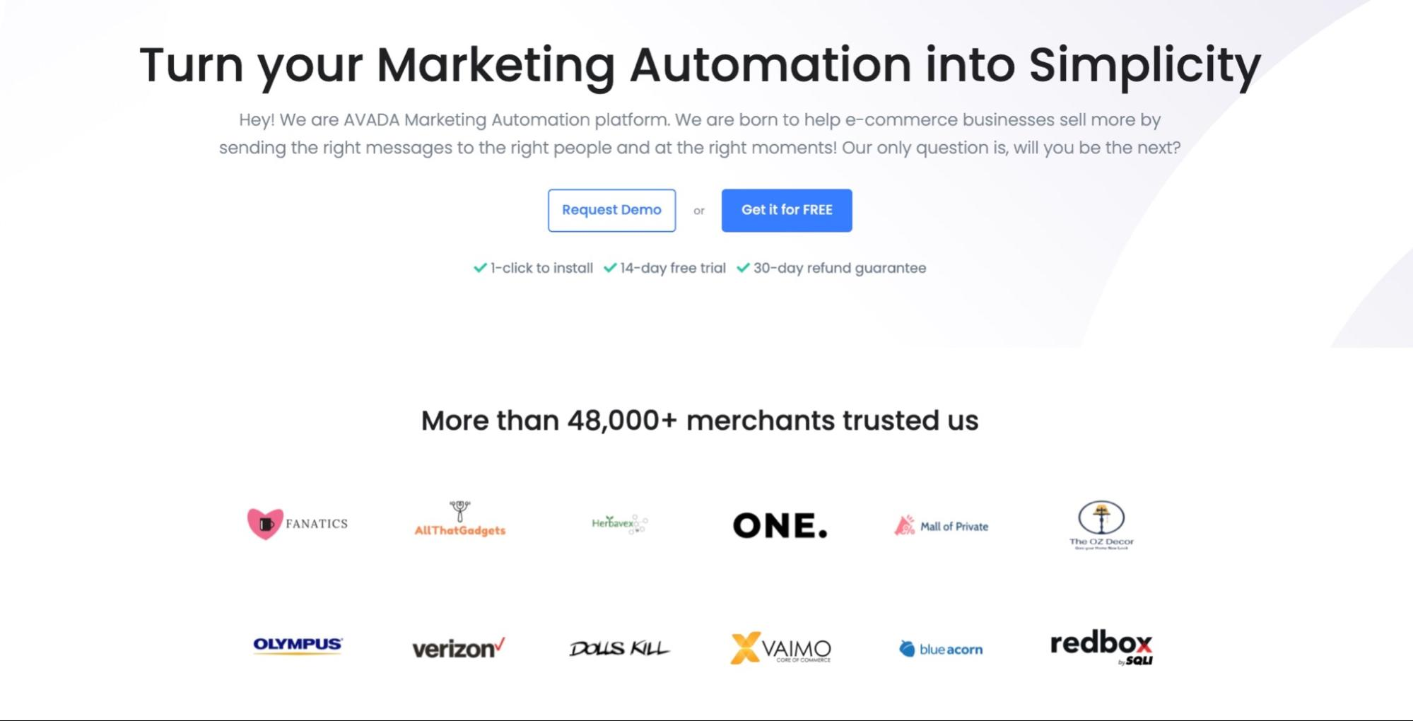 Segment your email list with AVADA Marketing Automation
