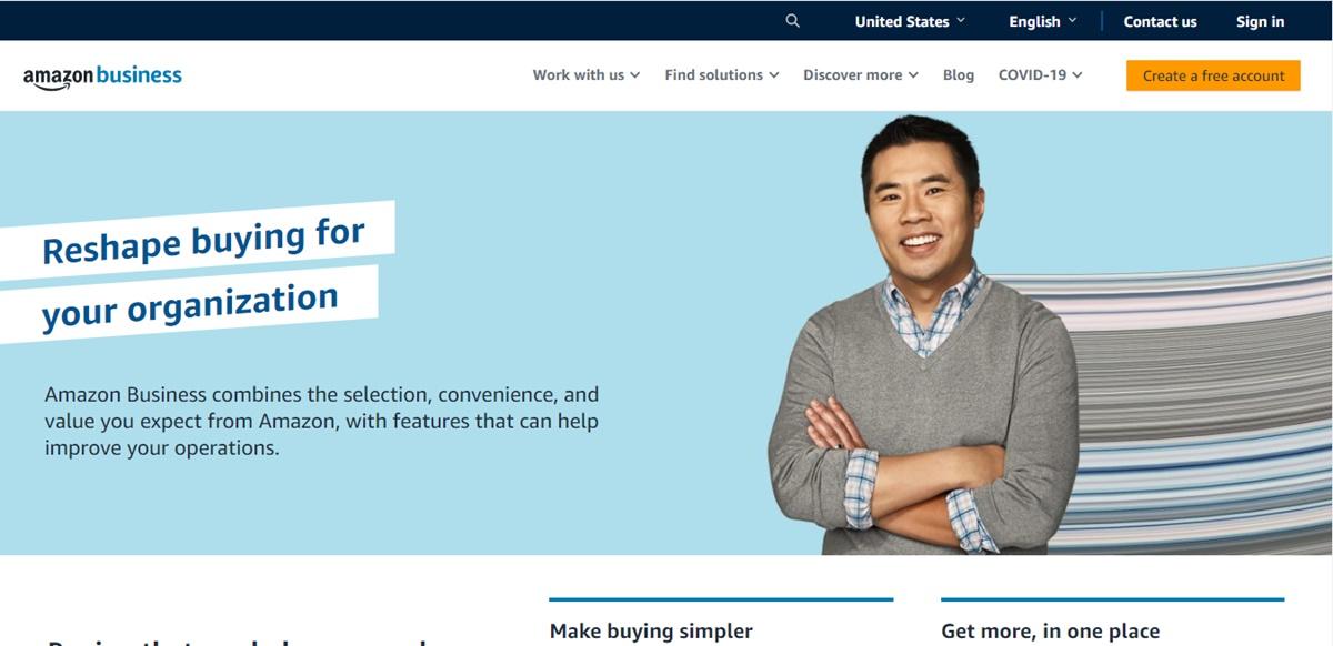 the website business.amazon.com