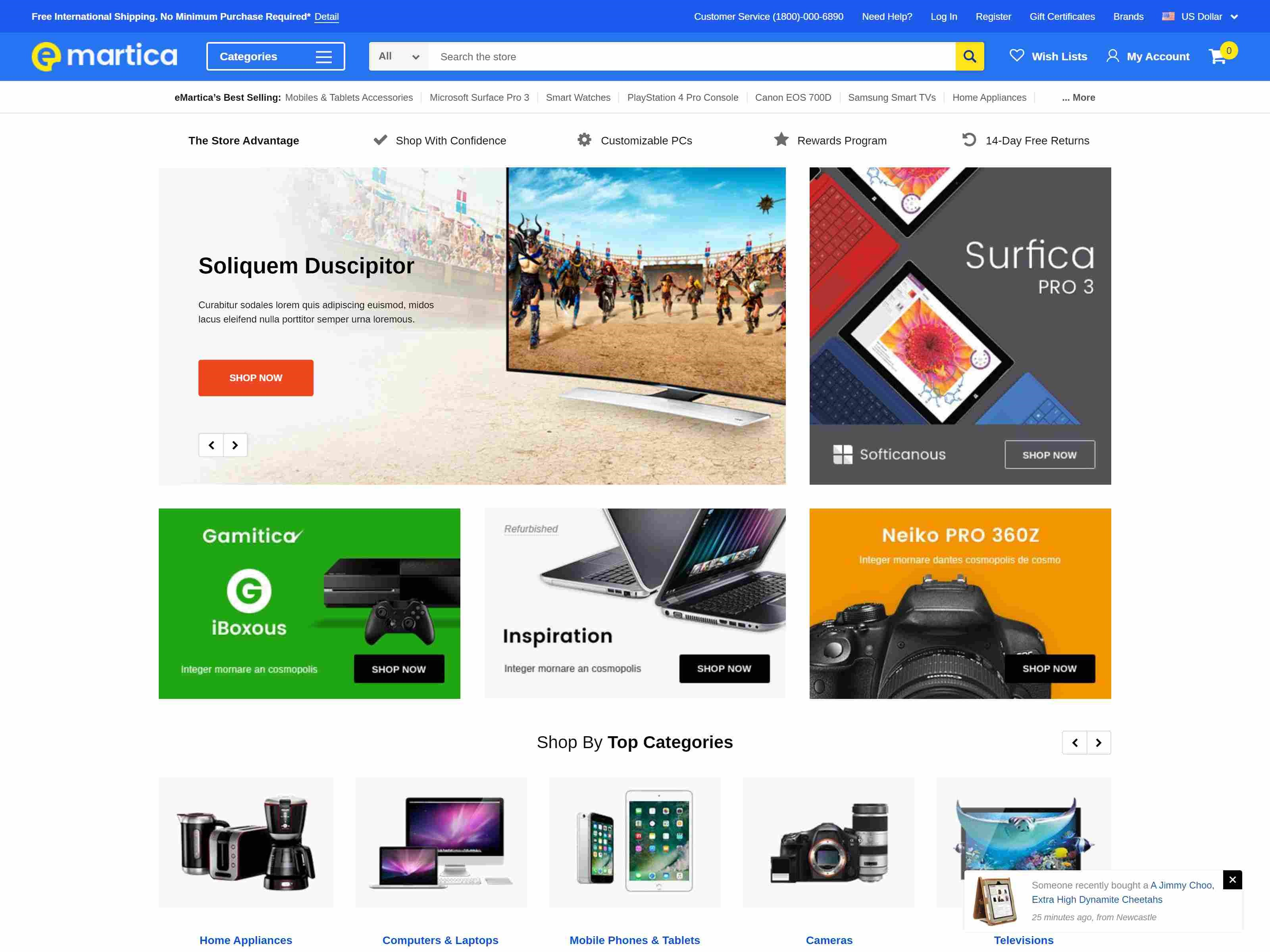 eMartica BigCommerce Theme preview Source: Theme Daddy