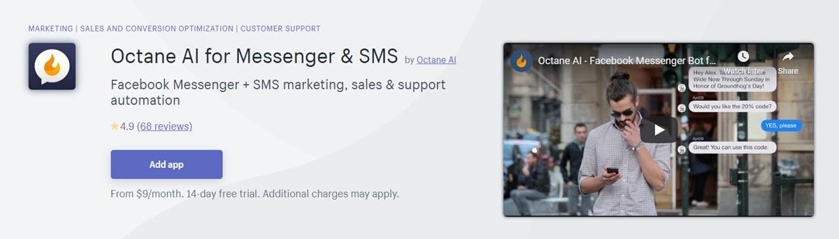 Octane AI - Messenger & SMS marketing