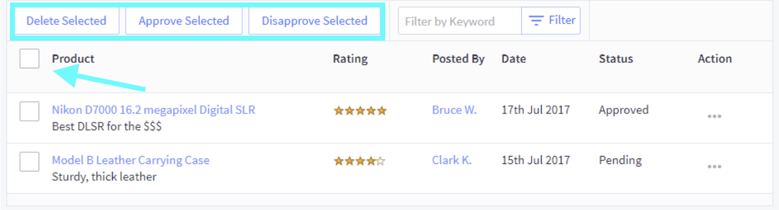 Authorize reviews