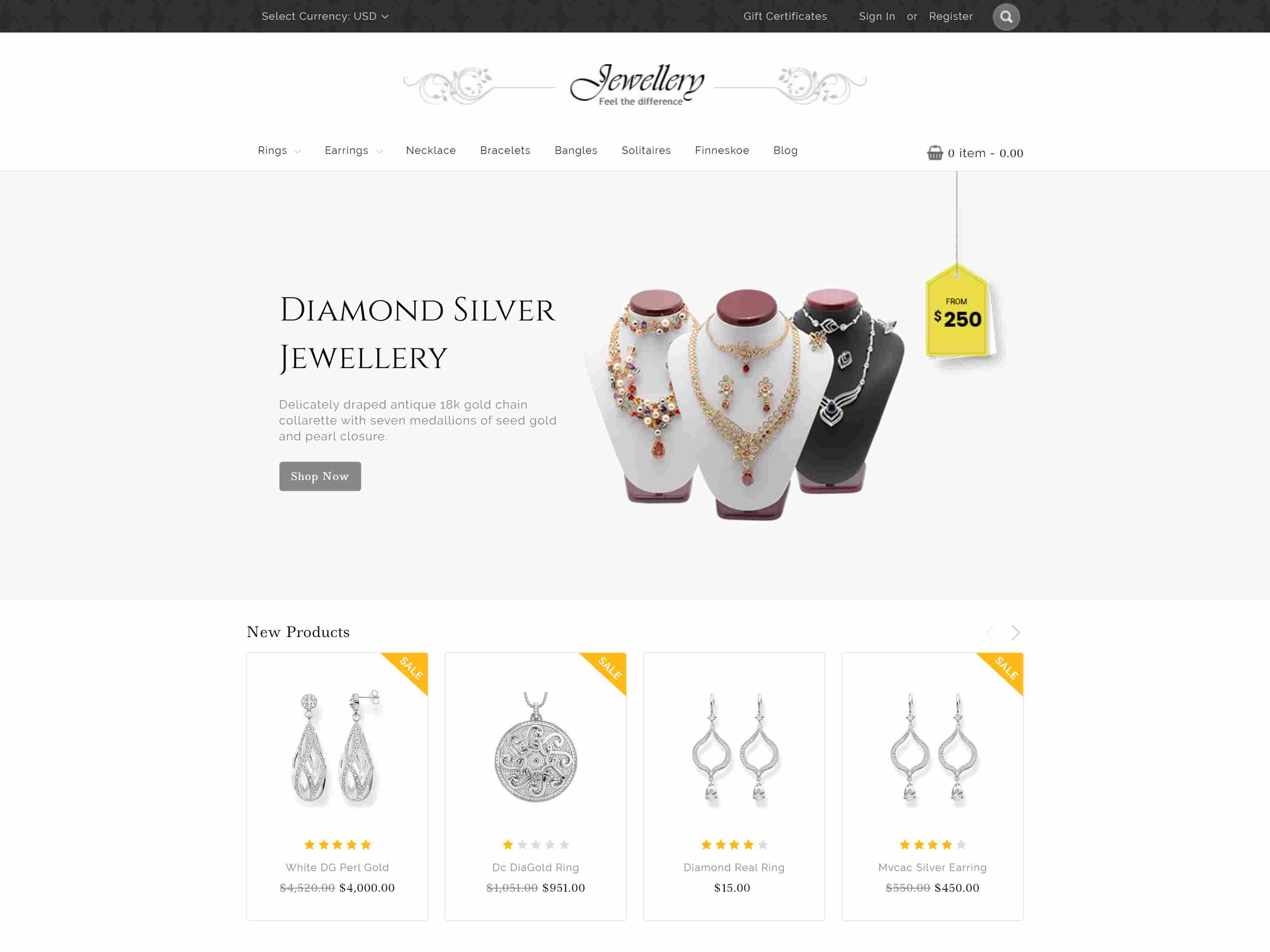 Jewellery BigCommerce Theme preview Source: Theme Daddy