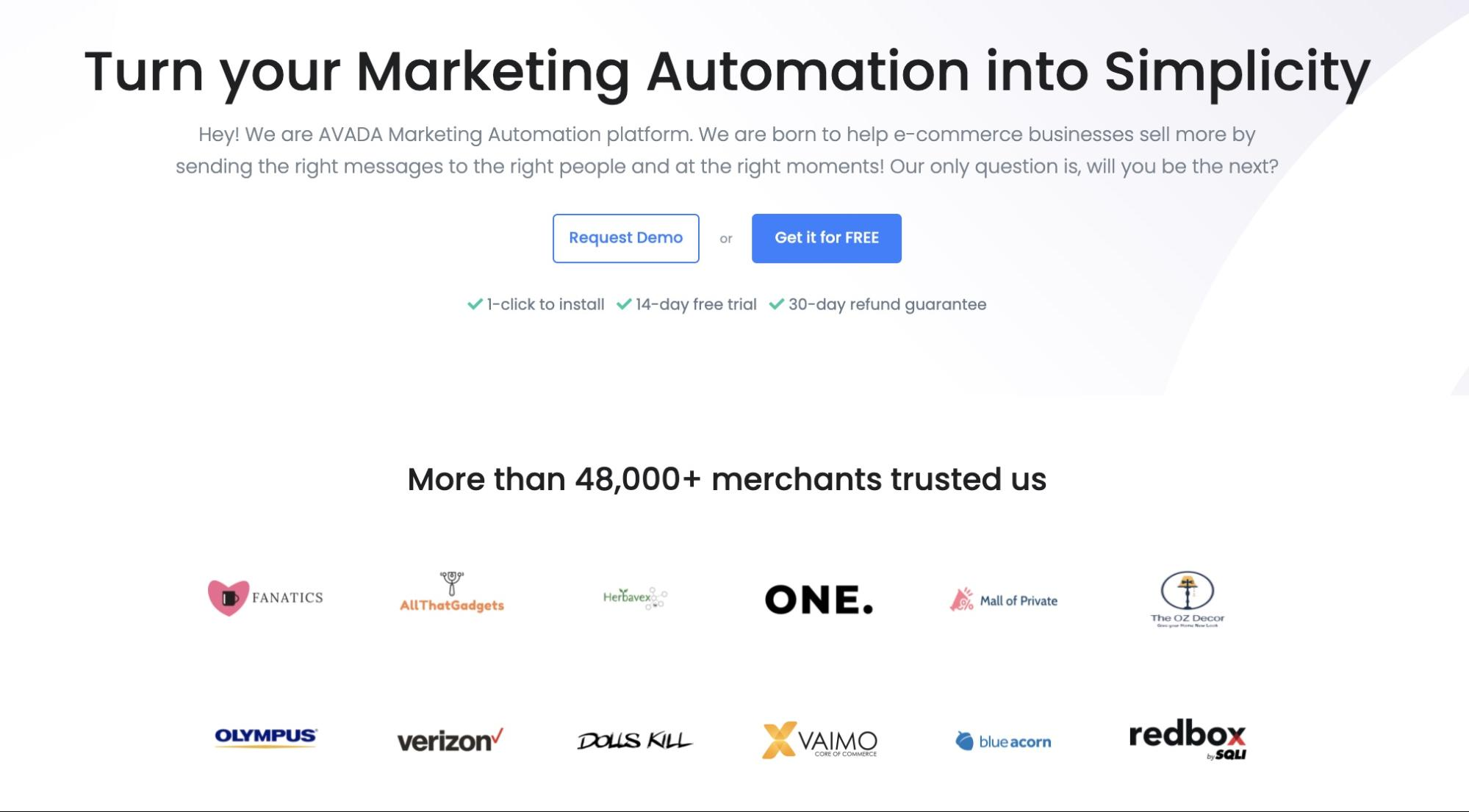 Use AVADA Marketing Automation to get started with B2B Email marketing