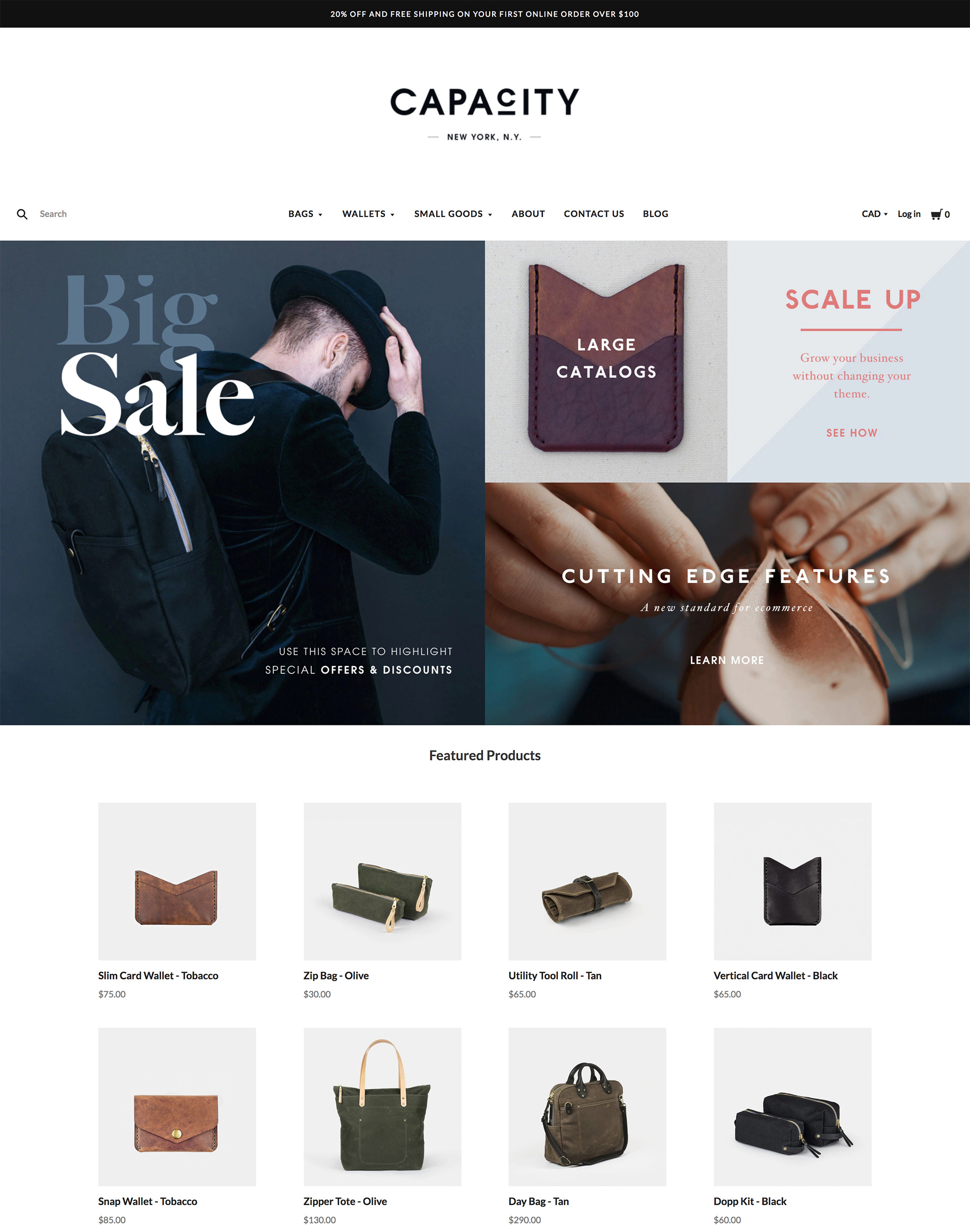 Capacity Warm BigCommerce Theme preview Source: Pixel Union