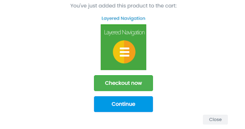 Shopping Cart allows users to continue shopping or make a payment if required
