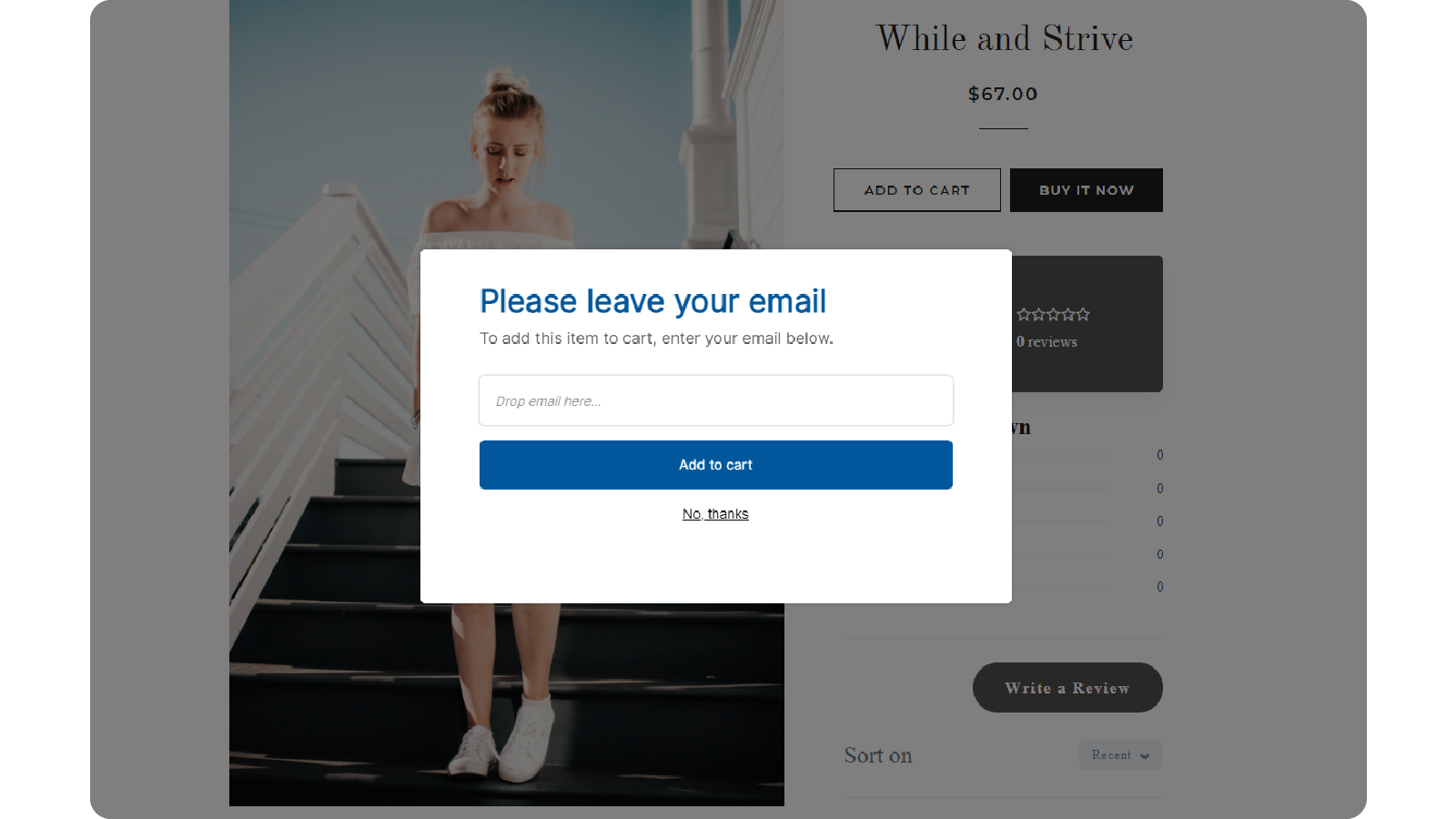Add-to-cart popup
