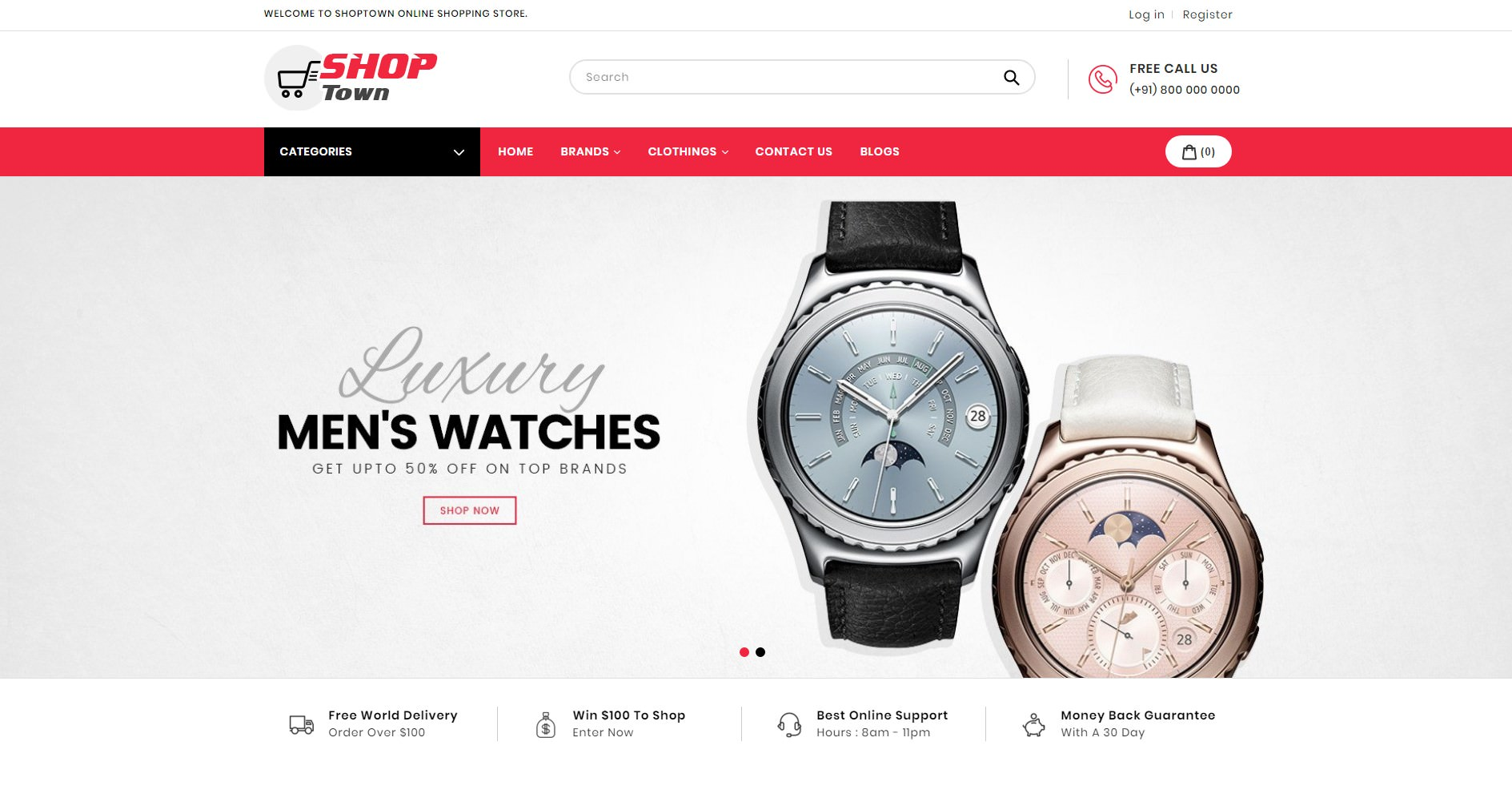 Shop Town BigCommerce multi-purpose theme preview Source: AVADA Commerce